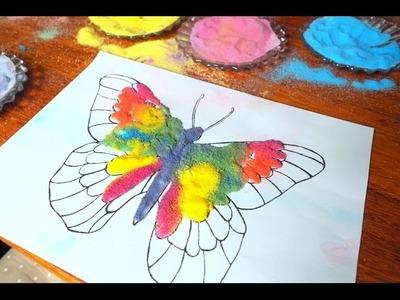 Piaskowe obrazki. solne obrazki. DIY. malowanie piaskiem. prace plastyczne dla dzieci