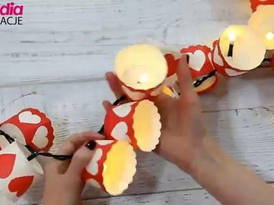 Girlanda z lampek choinkowych DIY