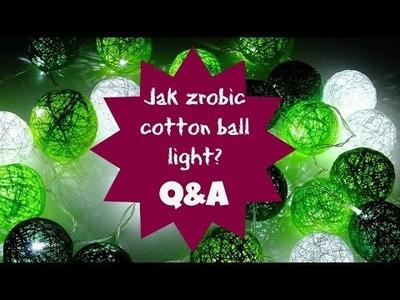 DIY Jak zrobić Cotton Balls. Odpowiadam na Wasze pytania. | DzienBezKawy