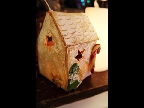 Domek z masy solnej święta DIY