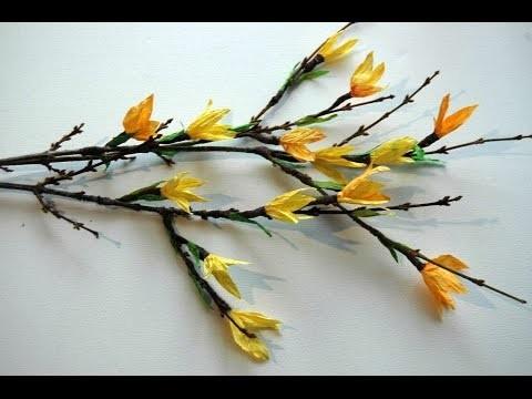 Twist Art flowers -  kwiaty z papieru # Forsycja # DIY