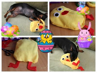 DIY #10 zrób to sam pluszowy kurczak na Wielkanoc dla psa