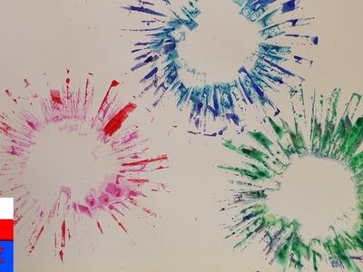 DIY International | kolorowe fajerwerki | obrazek z fajerwerkami | nowe techniki malowania