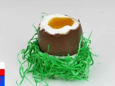 DIY International   udawane jajko wielkanocne   jajko niespodzianka z nadzieniem jogurtowym
