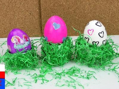 DIY International |wielkanocna podstawka na jajko z siankiem | prezent wielkanocny