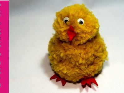 Kurczak wielkanocny z pomponów (Easter chicken, pompoms)