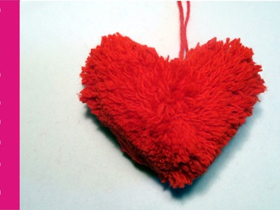 Pompon Serce (Heart Shaped Pom Pom)
