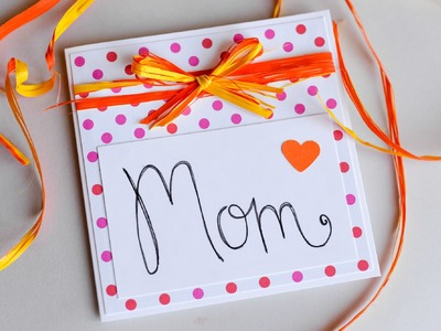 How to Make - Easy Greeting Card Mother's Day - Step by Step | Kartka Na Dzień Matki