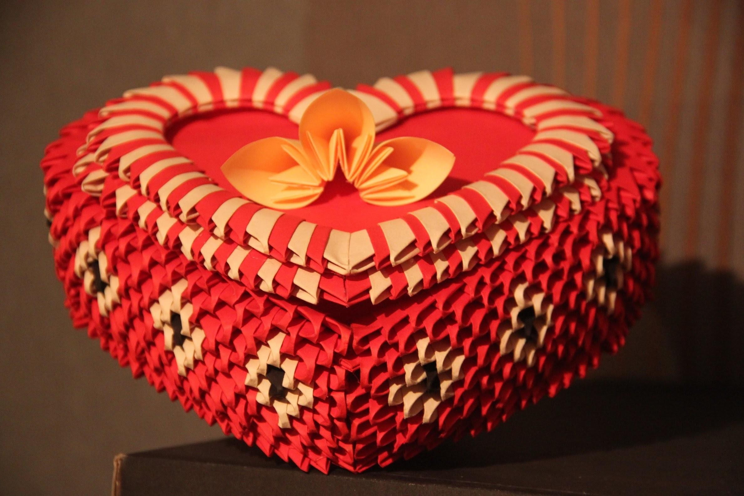 #18 Pudełko w kształcie serca - Origami modułowe