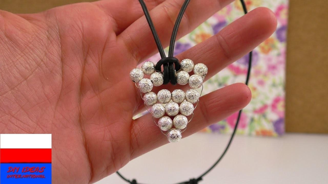 Aztecki naszyjnik    wisiorek z perełek i drutu – zrób to sam