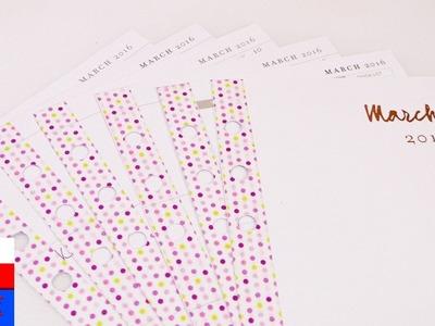Dekoracja notesu na marzec   ozdabianie notesu washi tape