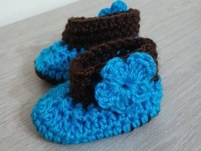 No 09# buciki na szydełku dla niemowlaka 0-3 miesiące - shoes for baby on the crochet 0-3 months