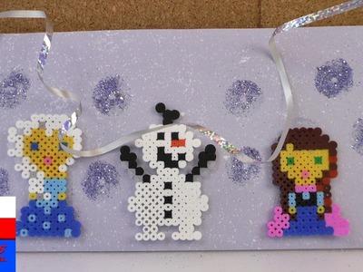 Tabliczka na drzwi z postaciami z Krainy Lodu |  Elza, Olaf, Anna