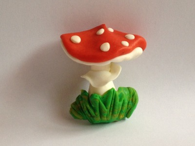 The Fastest Sculpting ever ! Mushroom red  in 2 min !! Handmade polymer clay Tutorial