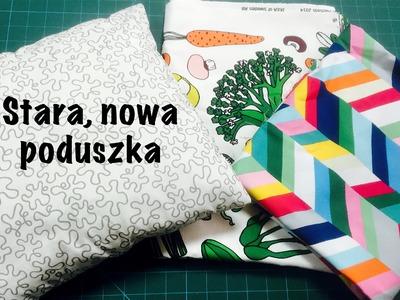 Zrób to Sam - prosta poszewka na poduszkę - tutorial by Coza szycie