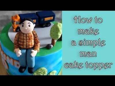 How to make a simple fondant man figure. Jak zrobić prostą figurkę mężczyzny z masy cukrowej