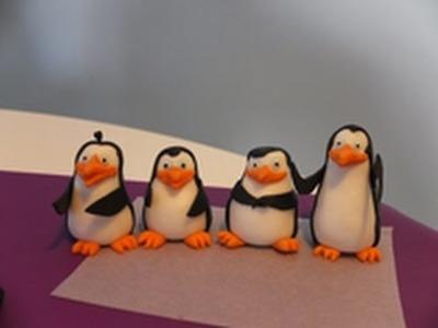 How to make fondant Madagascar Penguins figures. Jak zrobić Pingwiny z Madagaskaru z masy cukrowej