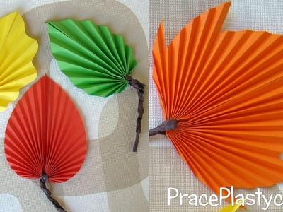 Jak zrobić jesienne liście z papieru?