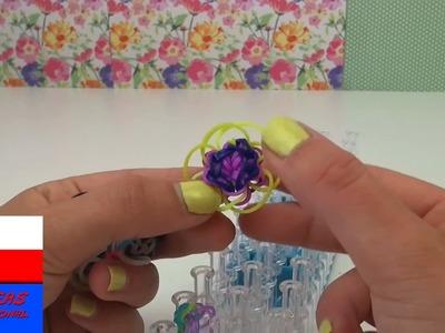 Zrób to sama: Kwiatki z gumeczek Loom band przywieszka do kluczy ozdoba