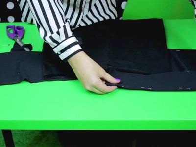 Zrób to Sama - spodnica z baskinką - Jak uszyć spódnicę z dzianiny z baskinką [Coza Szycie]