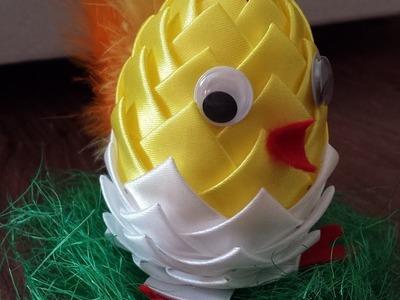 Jak zrobic kurczaka z jajka syropianowego (ozdoby wielkanocne). Ribbon Easter Egg (tutorial)