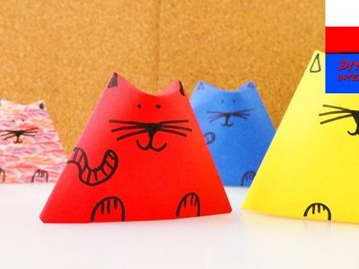 DIY International | rodzinka kotów z papieru | świetny pomysł na dekorację pokoju