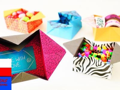 DIY International | urocze pudełko origami do złożenia | świetny pomysł pudełko do składowania