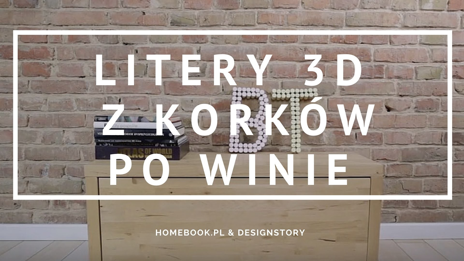 DIY: Jak zrobić litery 3D z korków po winie?