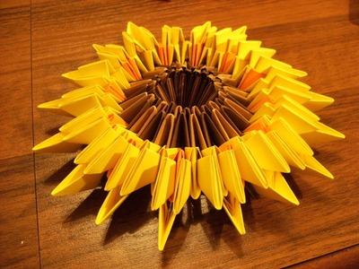 3D origami - SŁONECZNIK - instrukcja jak wykonać