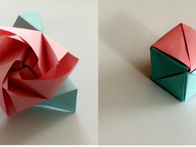 Origami magiczna róża - jak zrobić origami z papieru po polsku 2016