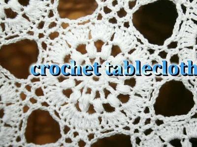 Crochet tablecloth obrus szydełkowy