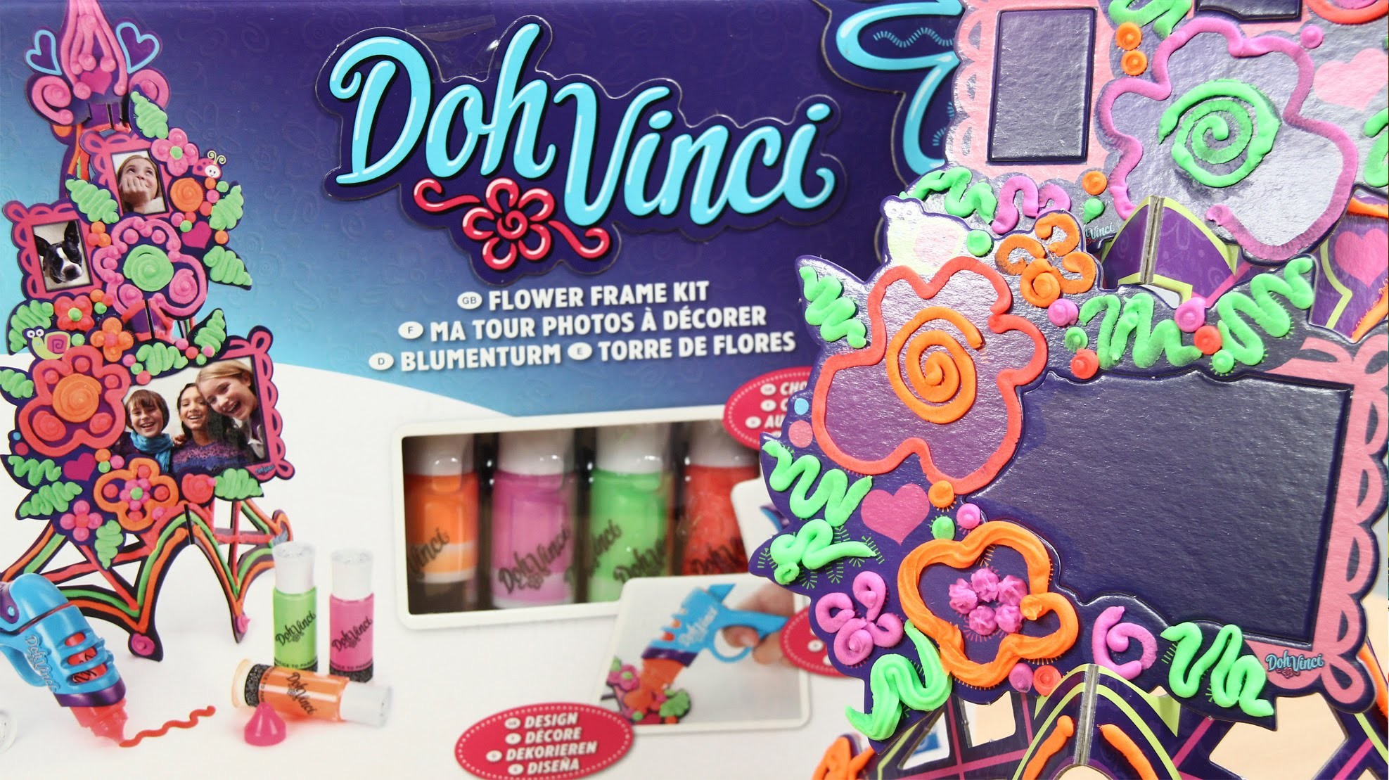 Flower Tower Picture Frame Kit. Kwiatowa Ramka do Zdjęć - Doh Vinci - Play-Doh