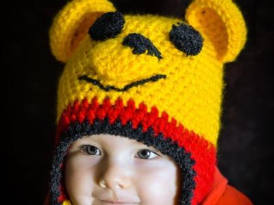 Czapka  Kubuś Puchatek  na szydełku. Winnie the Pooh Beanie crochet