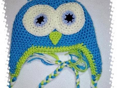 Czapka sowa. owl crochet