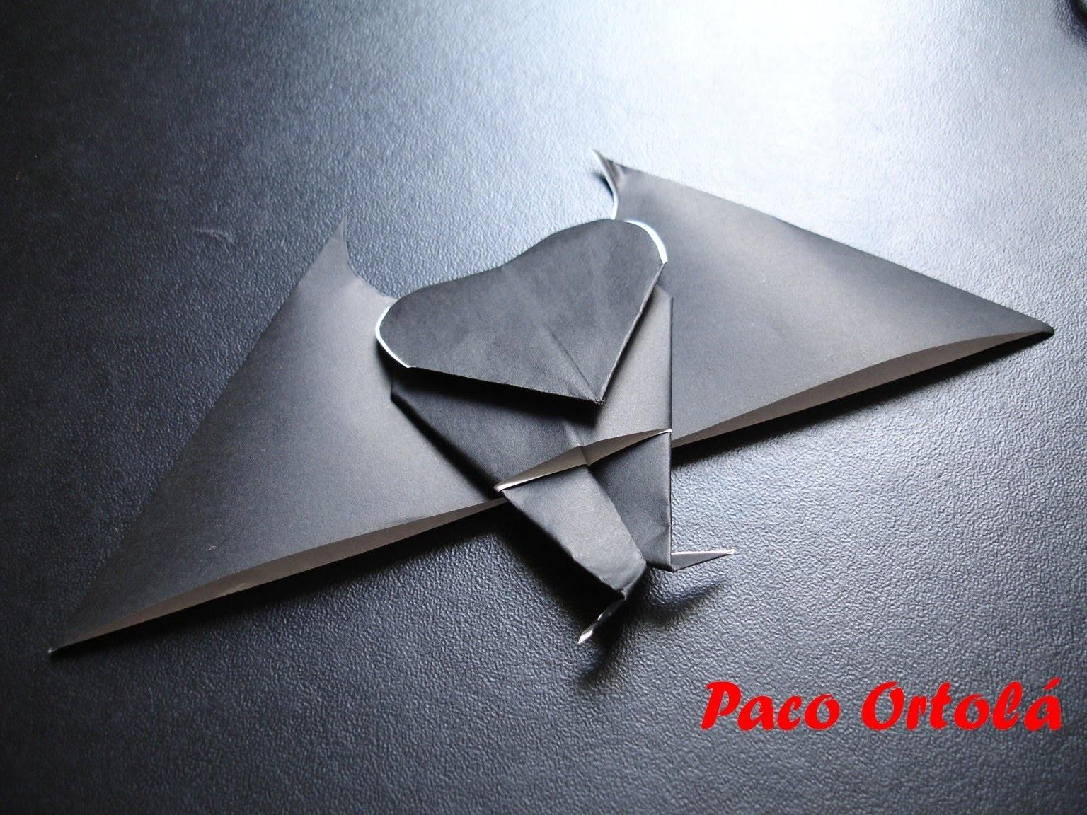 Origami ou dobradura - Morcego
