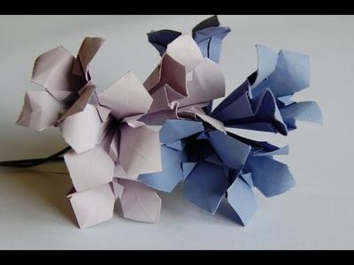Origami gentian flower (kwiat goryczki origami)