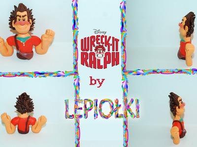 Lepiołki:Popiersie Ralph Demolka , bust Wreck-It Ralph TUTORIAL, polymer clay, made hand
