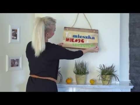 DIY: Sentencje na drewnie przedstawia Lady of the House