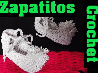 Zapatitos a Crochet - Pompom - ♥ Pettiblu ♥