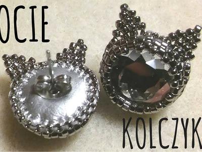 Kocie kolczyki DIY (Cat Earrings) - Haft koralikowy [TUTORIAL] | Qrkoko.pl