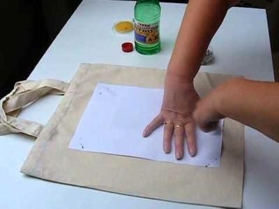 Transfer kolorowego druku na tkaninie - DIY