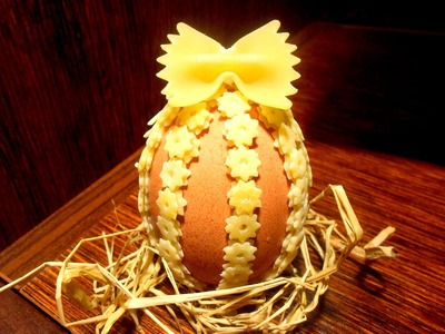 Wielkanocna pisanka z makaronu