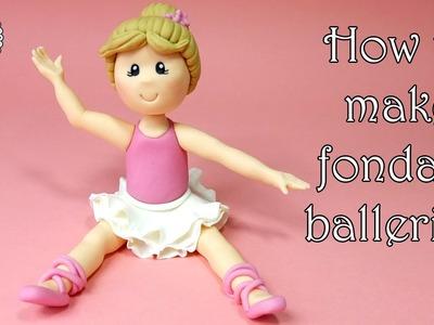 How to make fondant ballerina. Jak zrobić figurkę baletnicy z masy cukrowej