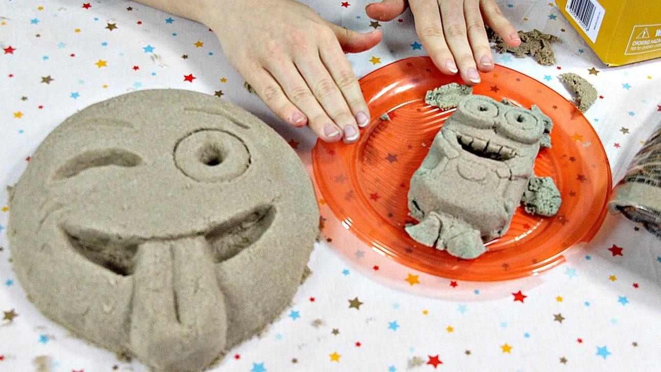 DIY: Spin Master - Kinetic Sand. Piasek Kinetyczny - Emoticons & Minions. Emotikony i Minionki