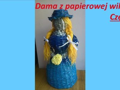 Dama.lalka z papierowej wikliny - część 2