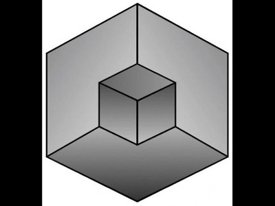 Prosty rysunek 3D Iluzja optyczna - A simple 3D drawing optical illusion