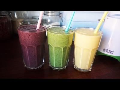 3 przepisy na zdrowe SMOOTHIE (blender Mix & Go)