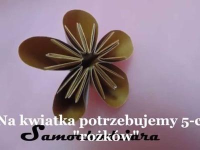 Jak zrobić kwiatka do bombki 3D z papieru.Christmas Ball. samochodziara.blogspot.com