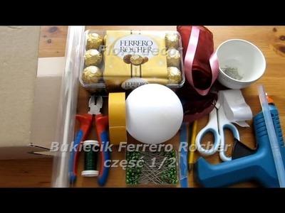 Jak zrobić bukiet z cukierków Ferrero Rocher część 1.2