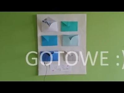 DIY#1 - Koperta z serca, tablica z kopertami